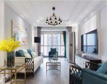 128平美式风格三居室装修效果图