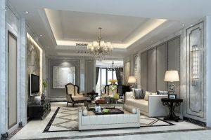 富丽简欧米色沙发设计