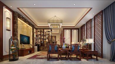 324平中式风格别墅装修效果图
