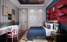 迷人红色卧室案例图