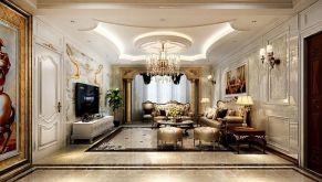 141平欧式风格四居室装修效果图