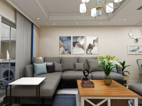 90平美式风格四居室装修效果图