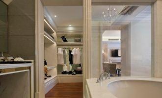 迷人浴室浴缸平面图
