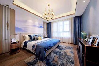 温暖蓝色卧室案例图片