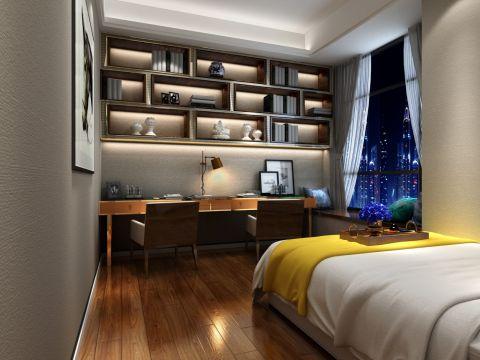 卧室黄色书桌室内u乐娱乐平台设计