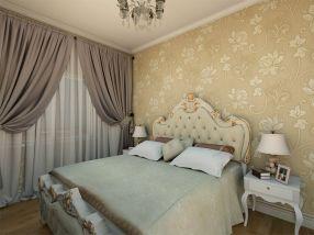 写意黄色卧室装饰实景图