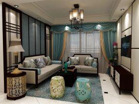 95平新中式风格三居室装修效果图