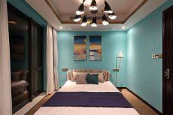 小巧玲珑卧室背景墙设计图片