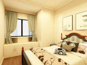 卧室米色背景墙装饰实景图