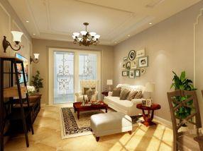 u乐国际娱乐城客厅沙发装饰实景图