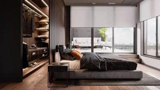 113平现代风格三居室装修效果图