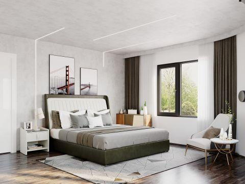 105平现代风格套房装修效果图