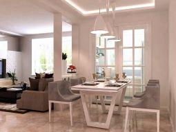 客厅灰色沙发室内装修设计
