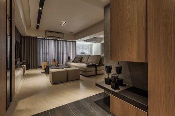 116平工业风格三居室装修效果图
