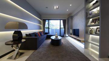 2018现代中式110平米装修设计 2018现代中式三居室装修设计图片