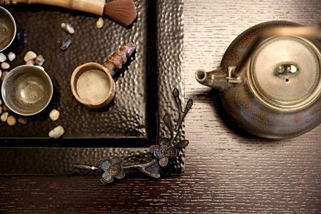 简单大气棕色茶几装修图