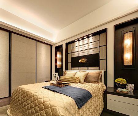卧室白色吊顶装饰实景图片