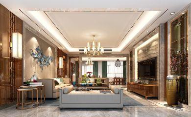 2019新中式240平米装修图片 2019新中式套房设计图片