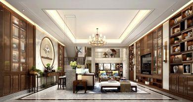 2019新中式客厅装修设计 2019新中式博古架装修图