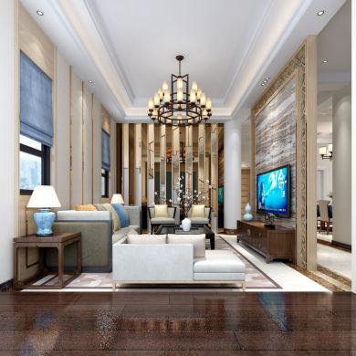 2018新中式300平米以上装修效果图片 2018新中式别墅装饰设计