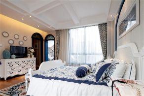 2018地中海卧室装修设计图片 2018地中海电视柜效果图
