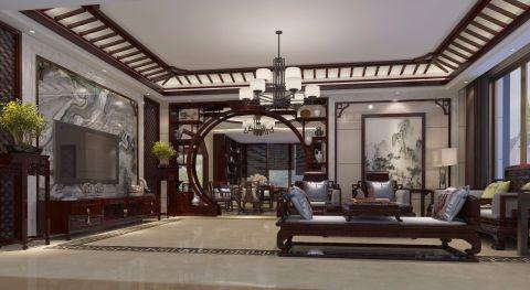 2018中式300平米以上装修效果图片 2018中式别墅装饰设计