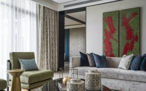 2018新中式70平米设计图片 2018新中式二居室装修设计