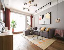 90平混搭风格两居室装修效果图