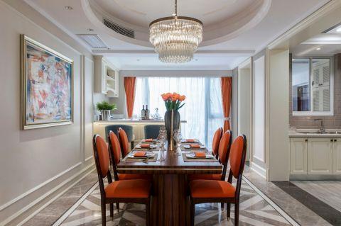 美式餐厅餐桌效果图