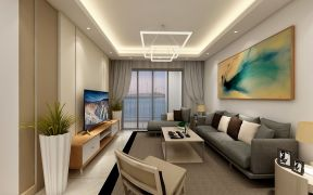 客厅灰色沙发家装设计