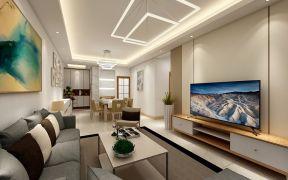 客厅吊顶现代简约设计图