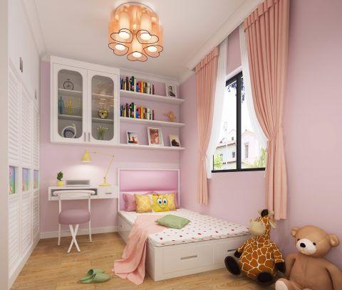 2018现代简约儿童房装饰设计 2018现代简约窗帘装修效果图片