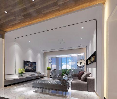 小巧玲珑白色客厅装修方案