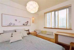 2018现代中式卧室装修设计图片 2018现代中式背景墙图片