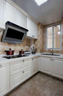 美式厨房L型橱柜装饰设计图片