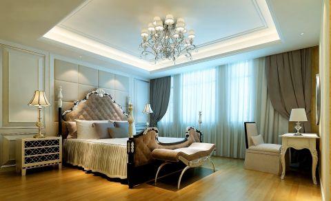 简约卧室窗帘装饰效果图