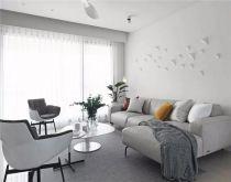 华丽灰色客厅装修图片