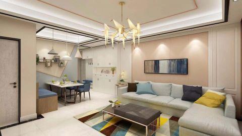 90平米現代風格兩室兩廳裝修效果圖