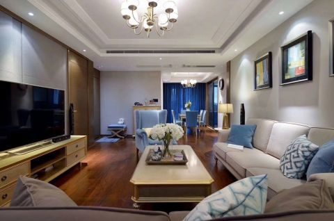 120平米简美风格三居室房子装修效果图