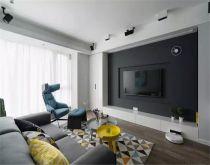 91平米简约风格两室两厅新房装修效果图