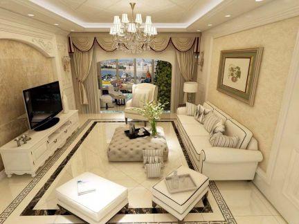 130平米欧式风格三居室新房装修效果图