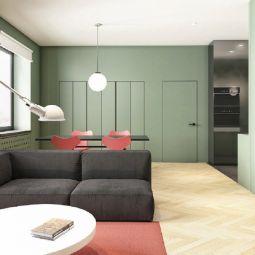 72平现代风格公寓装修效果图