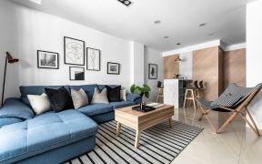 2019现代简约110平米u乐娱乐平台设计 2019现代简约三居室u乐娱乐平台设计图片