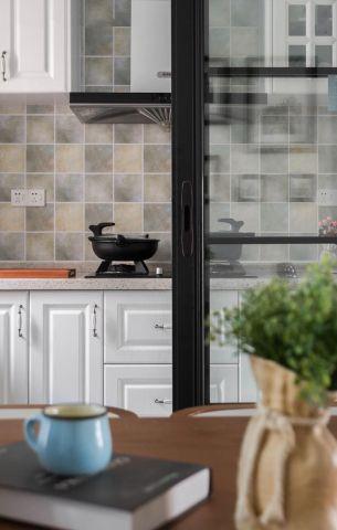 美式厨房吸塑橱柜图片