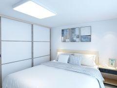 现代卧室推拉门衣柜装饰实景图片