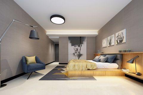 精致灰色卧室装饰实景图片