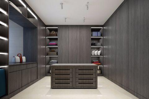 低调优雅灰色衣柜装潢实景图片