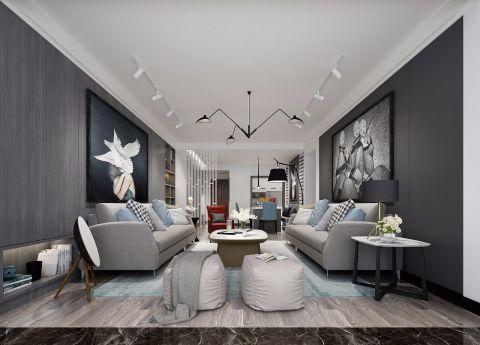 2019现代简约110平米u乐娱乐平台设计 2019现代简约套房设计图片