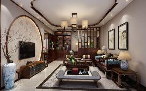 2019中式90平米装饰设计 2019中式三居室装修设计图片