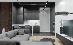 2019现代简约90平米装饰设计 2019现代简约四居室装修图